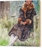 Miss Olivia Wood Print