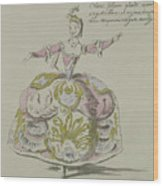 Miss Puvigne As Air, In Zoroastre, A Libretto By Cahusac Wood Print