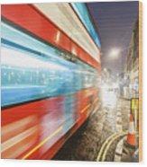 Missed The Bus Wood Print
