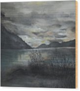 Missezula Lake Sunset Wood Print