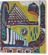 Missing Memphis Wood Print