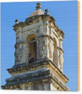 Mission Bell Tower Wood Print