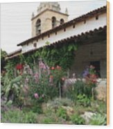 Mission Bells And Garden Wood Print