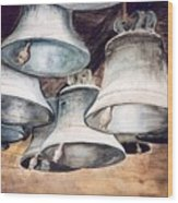 Mission Bells Wood Print