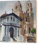 Mission Deloris Wood Print