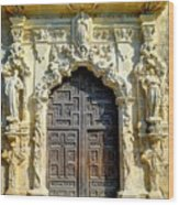 Mission Door Wood Print