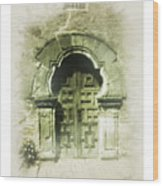 Mission Espada Chapel Door Wood Print