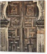 Mission Espada Door - 2 Wood Print