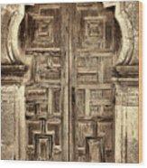 Mission Espada Door - 4 Wood Print