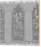 Mission Inn Chapel Stained Glass Wood Print