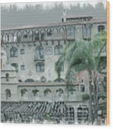 Mission Inn Court Yard Wood Print