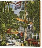 Mission Inn Spanish Patio 1940s Wood Print