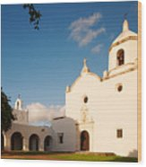Mission Nuestra Senora Del Espiritu Santo De Zuniga At Sunset - Goliad Coastal Bend Texas Wood Print