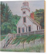 Mission Point Lighthouse Wood Print