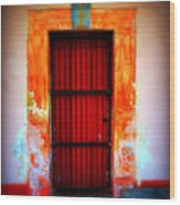Mission Red Door Wood Print