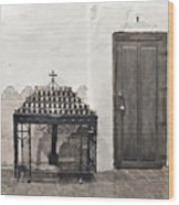 Mission San Diego - Confessional Door Wood Print