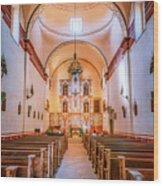 Mission San Jose Chapel Glow Wood Print