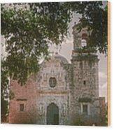 Mission San Jose In San Antonio Wood Print