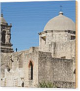 Mission San Jose Towers Wood Print
