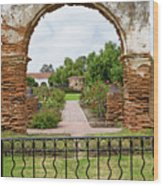 Mission San Luis Rey Carriage Arch Wood Print