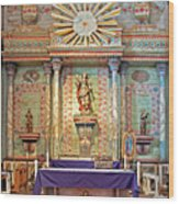 Mission San Miguel Arcangel Altar, San Miguel, California Wood Print