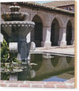 Mission San Miguel Fountian 2 Wood Print
