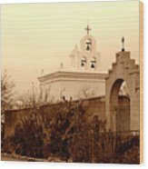 Mission San Xavier Chapel Wood Print