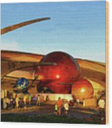 Mission Space Wood Print