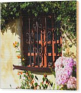 Mission Window 1 Wood Print