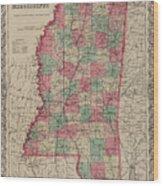 Mississippi Wood Print