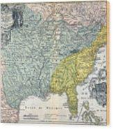 Mississippi Region, 1687 Wood Print