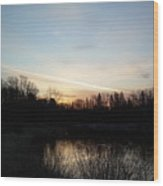 Mississippi River Colorful Dawn Clouds Wood Print