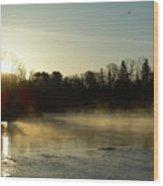 Mississippi River Dawn Light Rays Wood Print