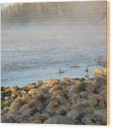 Mississippi River Duck Duck Dawn Wood Print