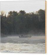 Mississippi River Fisherman At Dawn Wood Print