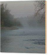 Mississippi River Fog Swirls Wood Print