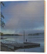 Mississippi River In Wisconsin Wood Print