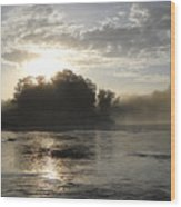 Mississippi River June Sunrise Reflection Wood Print