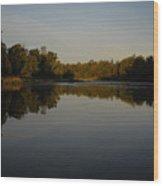 Mississippi River Mirror Like Water Wood Print