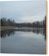 Mississippi River Morning Reflection Wood Print