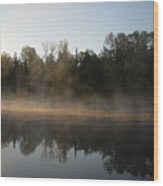 Mississippi River Smooth Reflection Wood Print