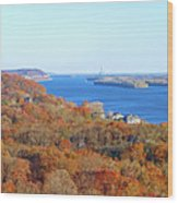 Mississippi Views From Grafton Bluffs Wood Print