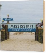 Mississippi Welcome Wood Print