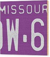 Missouri '78 Wood Print