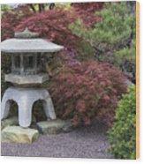 Missouri Botanical Garden A Japanese Snow Viewing Lantern Spring Time Dsc01783 Wood Print