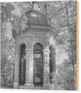 Missouri Botanical Garden Henry Shaw Crypt Infrared Black And White Wood Print