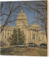 Missouri Capital Building Jefferson City Dsc00653 Wood Print