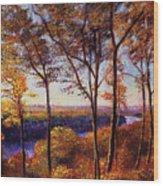 Missouri River In Fall Wood Print
