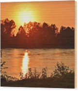 Missouri River In St. Joseph Wood Print