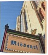 Missouri Theater Wood Print